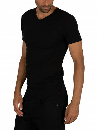 Tommy Hilfiger Black 3 Pack Premium Essentials V-Neck T-Shirts