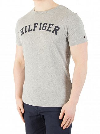 Tommy Hilfiger Grey Heather Arch Logo T-Shirt