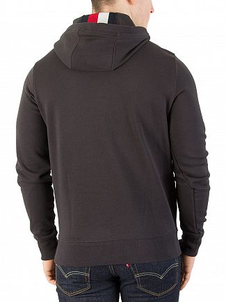 Tommy Hilfiger Jet Black Chest Logo Hoodie