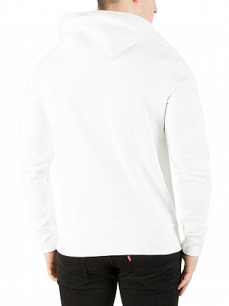 Tommy Hilfiger Bright White Chest Logo Hoodie