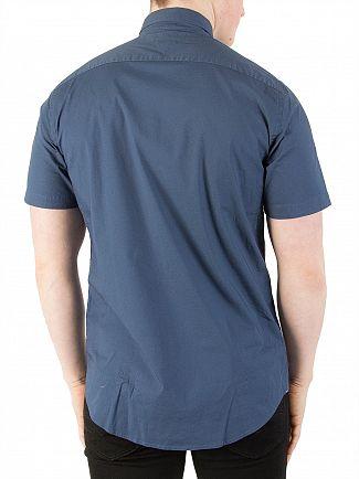 Tommy Hilfiger Dark Denim Regular Fit Stretch Poplin Shirt