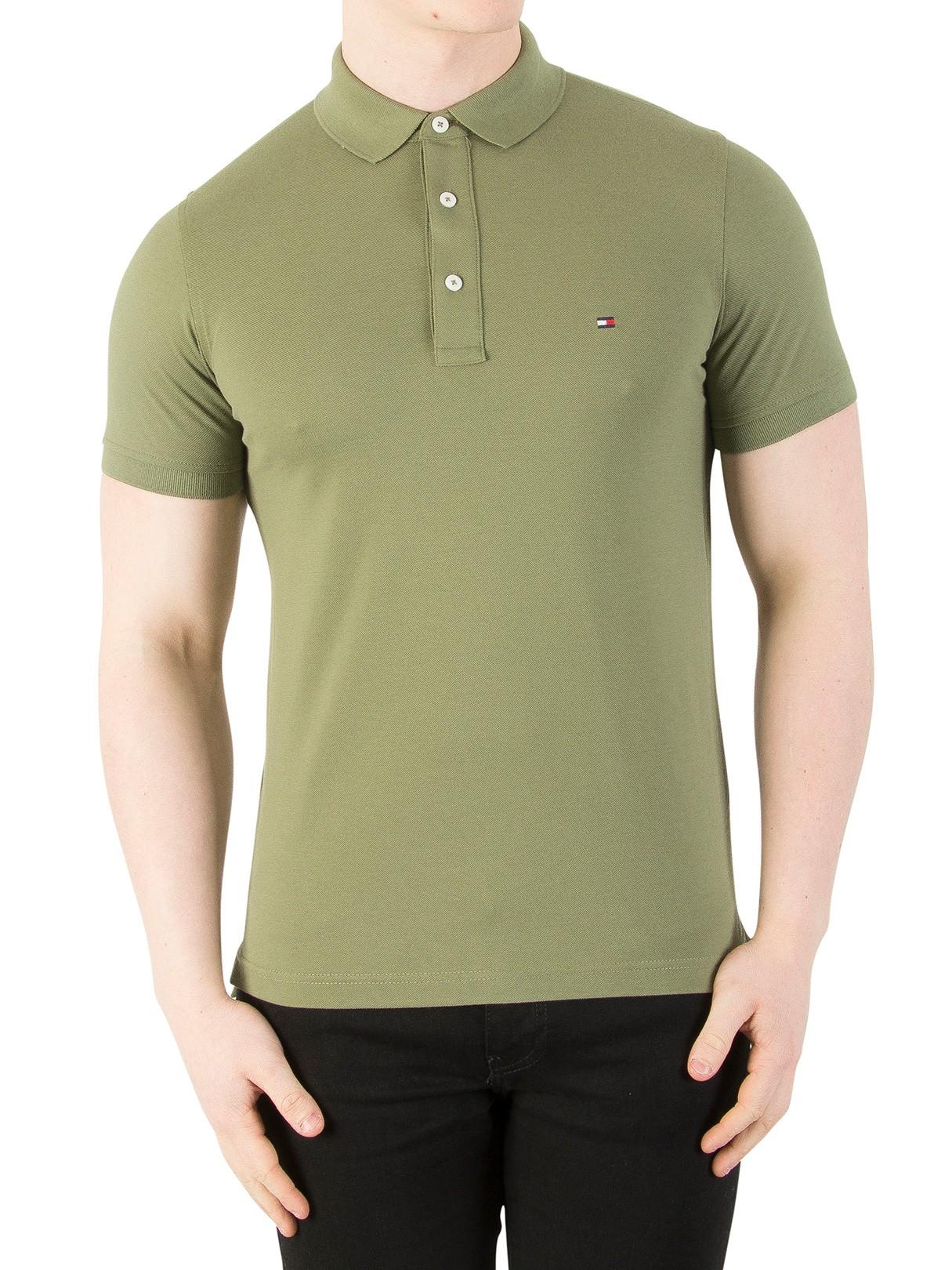 92a2f73d7294 Tommy Hilfiger Mens Custom Fit Logo Polo Shirt