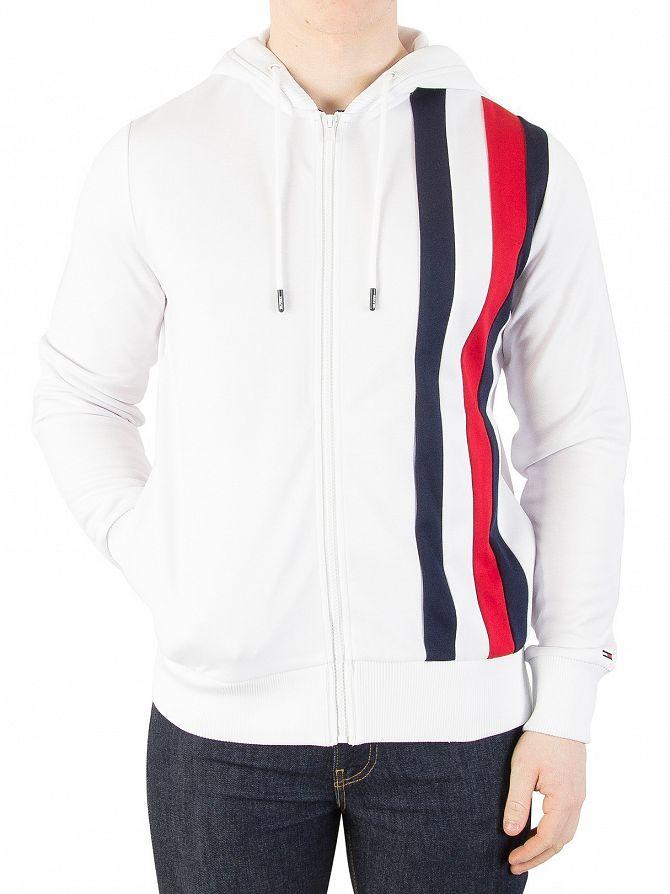 Tommy Hilfiger Herren Sportliche Tech Zip Jacke, Weiß   eBay a712572984