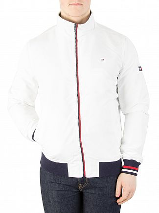 Tommy Jeans Classic White Basic Casual Bomber Jacket
