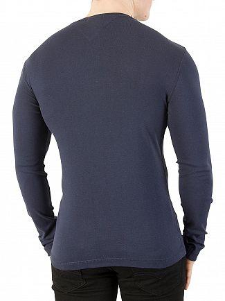 Tommy Jeans Black Iris Longsleeved Slim Fit T-Shirt
