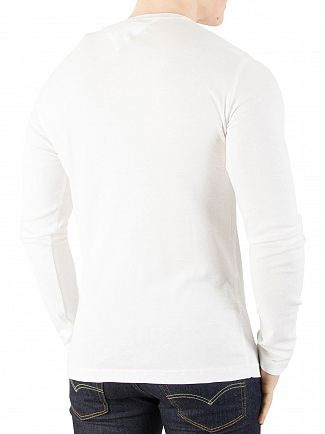 Tommy Jeans Bright White Longsleeved Slim Fit T-Shirt