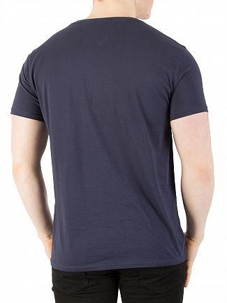 Tommy Jeans Black Iris Original Jersey T-Shirt