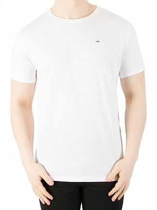 Tommy Jeans Classic White Original Jersey T-Shirt