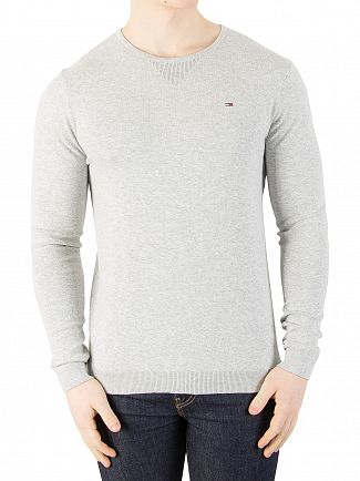 Tommy Jeans Light Grey Marl Original Knit