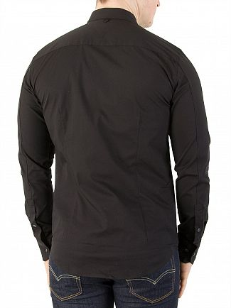 Tommy Jeans Tommy Black Original Slim Fit Stretch Shirt