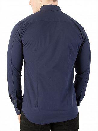 Tommy Jeans Black Iris Original Slim Fit Stretch Shirt
