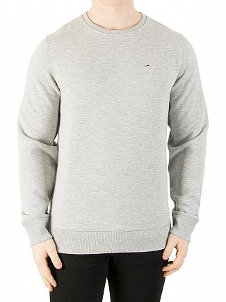 Tommy Jeans Light Grey Marl Original Sweatshirt