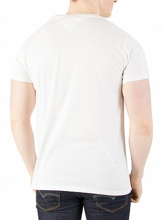 Tommy Jeans Classic White Original V-Neck Jersey T-Shirt