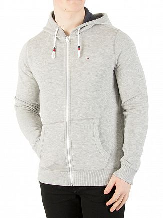 Tommy Jeans Light Grey Heather Original Zip Hoodie