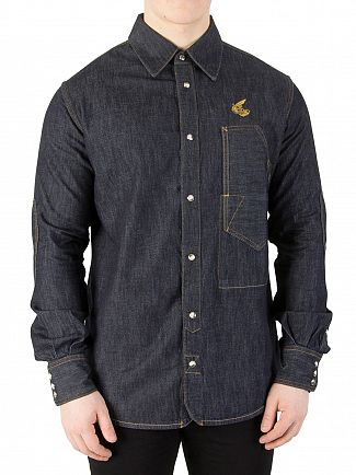Vivienne Westwood Blue Lars Workman Denim Shirt