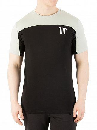 11 Degrees Pearl Green/Black Block T-Shirt