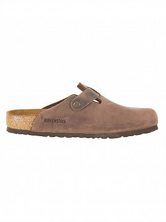 Birkenstock Habana Boston Oiled Leather Slip On Sandals