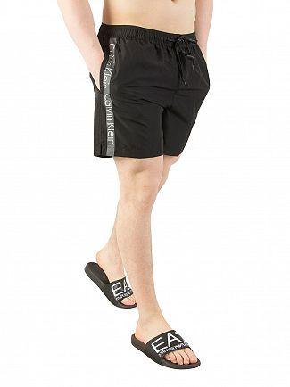 Calvin Klein Black Medium Drawstring Swim Shorts