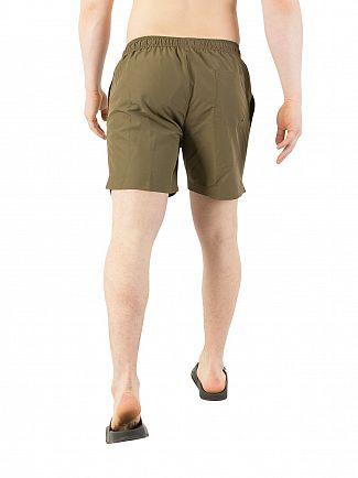 Calvin Klein Olive Night Medium Drawstring Swim Shorts