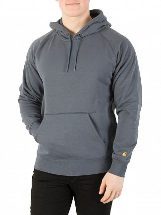 Carhartt WIP Stone Blue/Gold Chase Pullover Hoodie