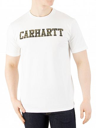 Carhartt WIP White/Camo Tiger College T-Shirt