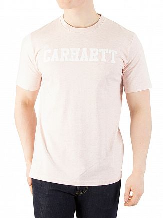 Carhartt WIP Sandy Rose Heather/White College T-Shirt