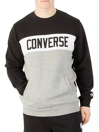 Converse Black/Vintage Grey Marl Colour Block Sweatshirt