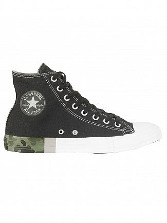 Converse Black/Dolphin/Camo CT All Star Hi Trainers