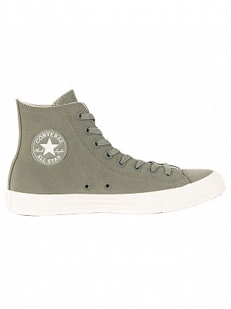 Converse River Rock/Drift Wood CT All Star Leather Hi Trainers