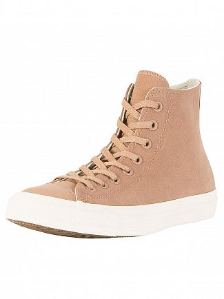 Converse Desert/Driftwood CT All Star Leather Hi Trainers