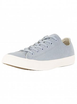 Converse Glacier Grey/Driftwood CT All Star Leather Ox Trainers