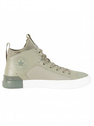 Converse Dark Stucco/River Rock CT All Star Leather Ultra Trainers