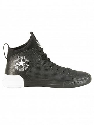 Converse Black/White CT All Star Leather Ultra Trainers