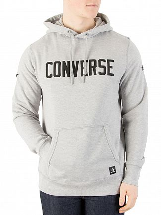 Converse Light Grey Heather Graphic Pullover Hoodie