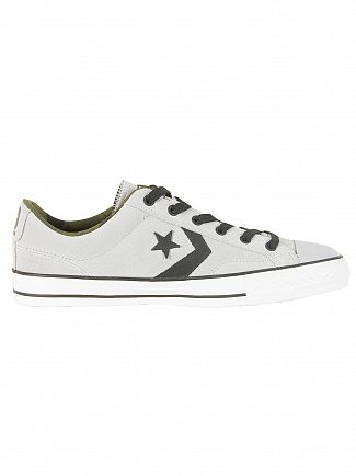 Converse Wolf Grey/Black/Camo Star Player Ox Suede Trainers