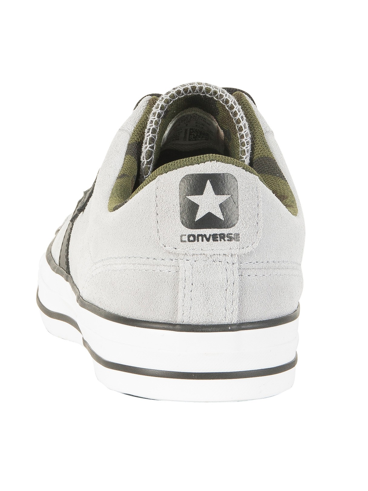 8f819cce064 Converse Wolf Grey Black Camo Star Player Ox Suede Trainers