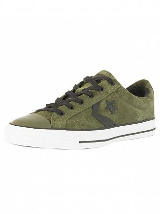 Converse Herbal/Black/White Star Player Ox Suede Trainers