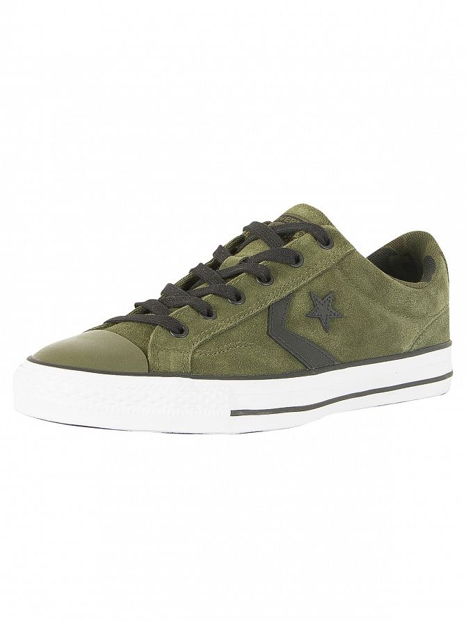 Converse Uomo Star Player Ox Suede Trainers Verde