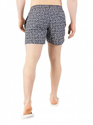 EA7 Blue All Over Print Swim Shorts