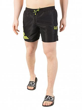 EA7 Black Logo Swim Shorts