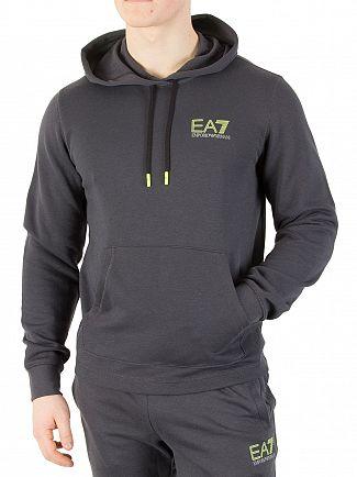 EA7 Dark Grey Natural Ventus Pullover Hoodie