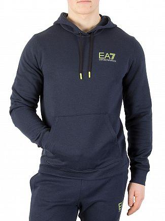 EA7 Navy Natural Ventus Pullover Hoodie