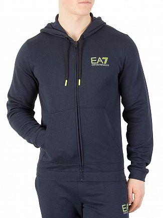 EA7 Navy Natural Ventus Zip Hoodie