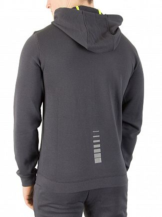 EA7 Dark Grey Natural Ventus Zip Hoodie
