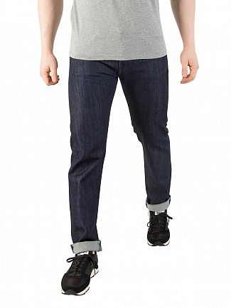 Edwin Blue Rinsed ED-55 Kingston Tapered Jeans