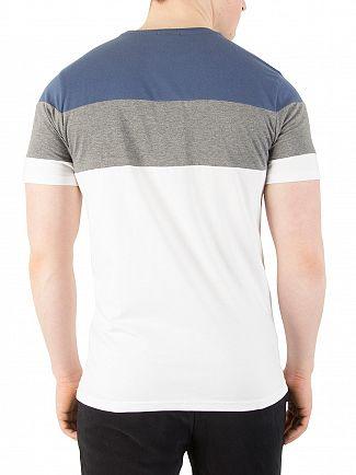 Ellesse Optic White/Dark Grey/Ensign Blue Gubbio C&S T-Shirt