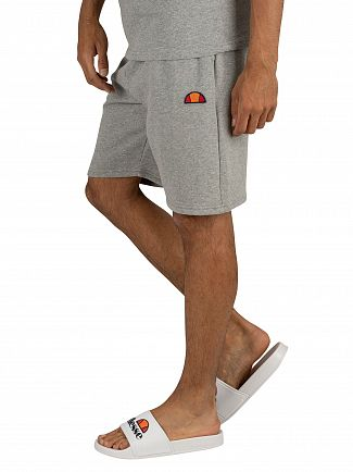 Ellesse Grey Marl Noli Fleece Sweat Shorts