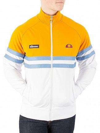 Ellesse Optic White/Cadmium Yellow Rimini Track Top