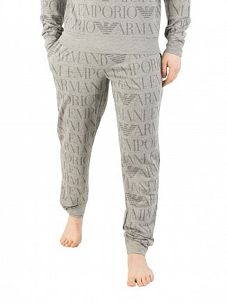 Emporio Armani Grey All Over Print Pyjama Bottoms