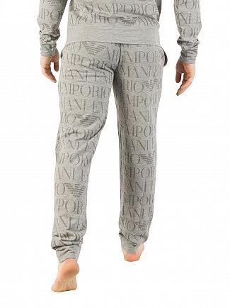 Emporio Armani Grey All Over Print Pyjama Bottoms